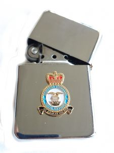 RAF Support Royal Air Force Chrome Plated Windproof Petrol Lighter in Gift Box